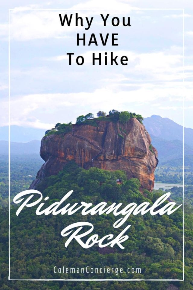 Pidurangala Rock is a short 20-minute walk from the more famous and popular Sigiriya Rock. Not only does it offer a chance to explore a more natural setting, but there are also cave temples, majestic views, and a brick reclining Buddha (once the largest brick reclining Buddha in the world). Click pin to learn more about why you must hike Pidurangala Rock. #SriLanka #Sigiriya #Pidurangala Rock