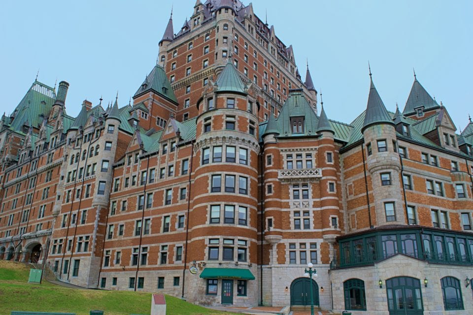 Chateau Frontenac is the most photographed building in Quebec City