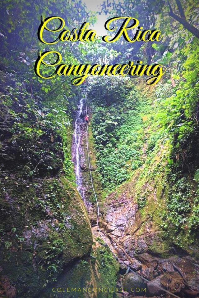 Canyoneering is one of the most fun things you can do on rope, and rappelling down waterfalls makes it that much more fun! But what if you skip the rope and just jump the falls as you make your way down canyon? In Costa Rica, you can have both of these awesome experiences! Click pin to learn more! #CostaRica #Canyoneering #Waterfalls #AdventureTravel