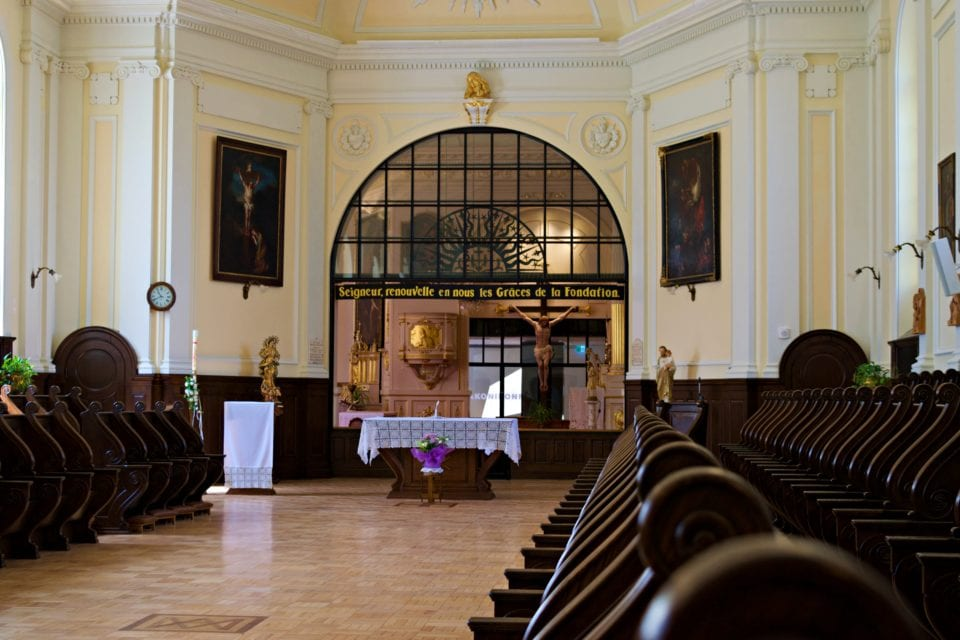 Inside the Chapel at Monastère des Augustine Quebec