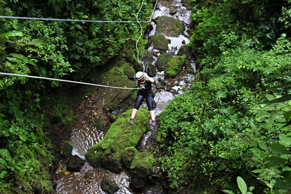 Jenn canyoneering in Costa Rica