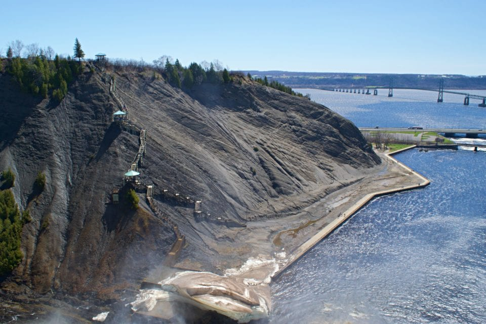 Montmorency Falls stair climb (This is why we biked through the neighborhood. To avoid these stairs)