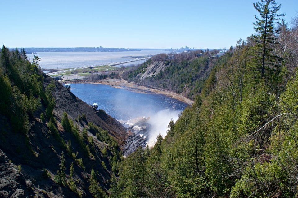 St Lawrence river from top of Montmorency Falls