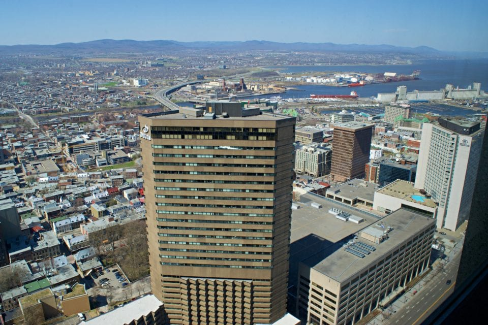 View from Observatoire of the Quebec City Skyline