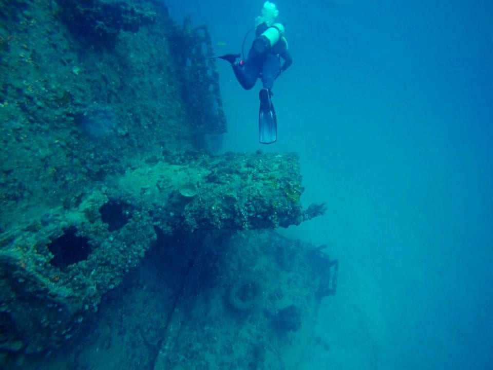 Ancient Mariner Wreck dive site