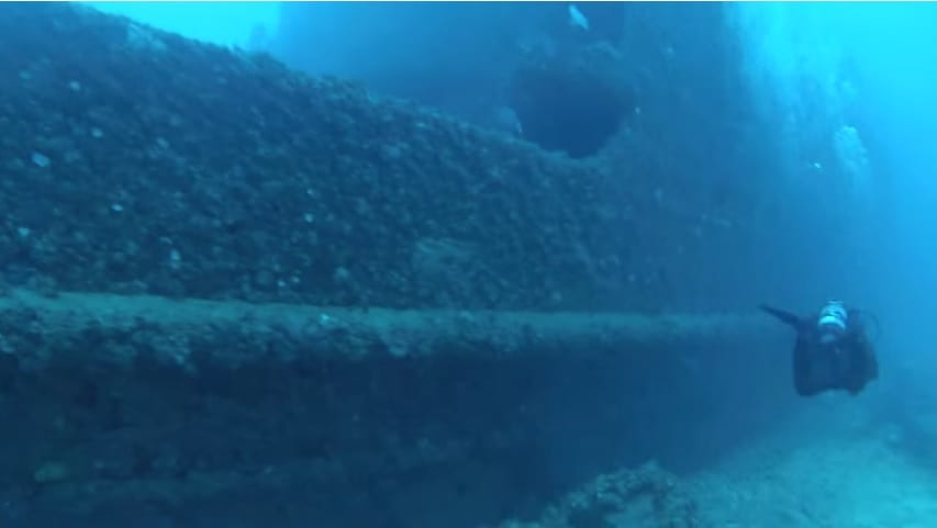 Captain Dan dive site (still from PDC dive video)