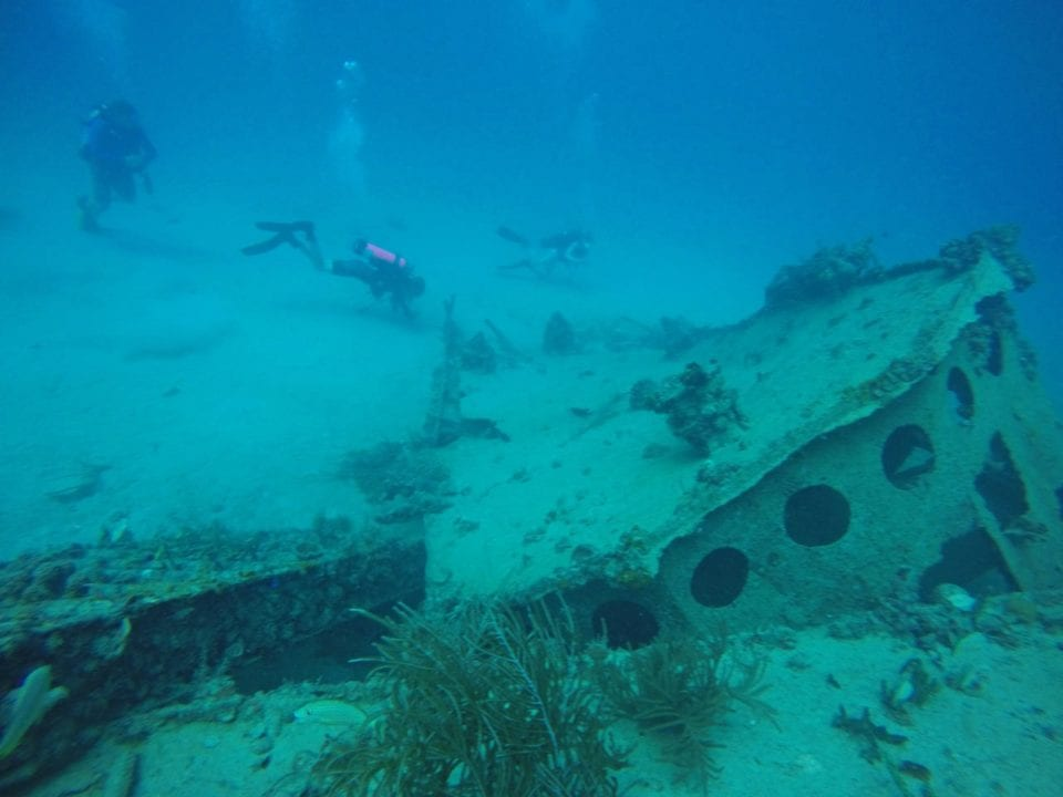 - Divers by United Caribbean dive site
