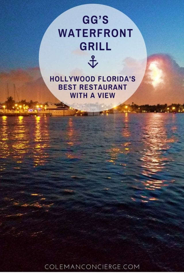 Casual elegance, locally sourced seafood, and perhaps the best sunsets in Fort Lauderdale / Hollywood Beach can be found and the iconic GG's Waterfront Grill. Click to find out why GG's is a must dine experience. #HollywoodBeach #BestRestaurants #FortLauderdale #RomanticRestaurants #Florida