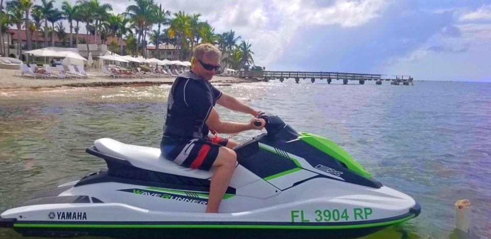 Ed flexing on a jet ski tour of Key West