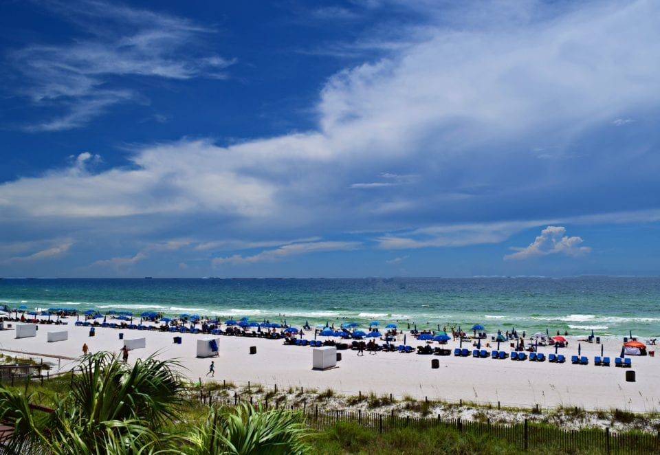 Beach view of Panama City Beach