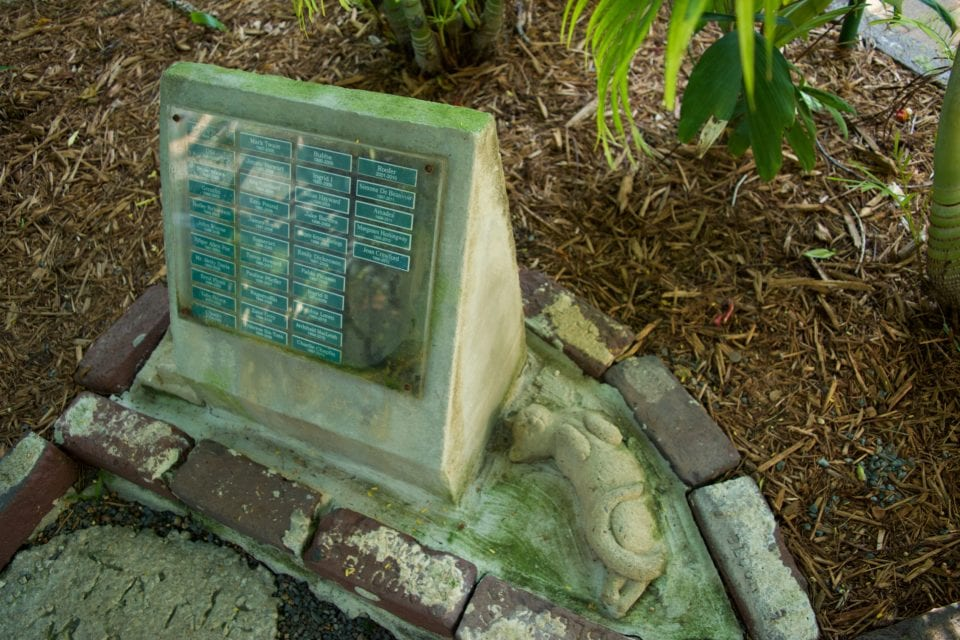 Hemingway House- Cat cat grave marker