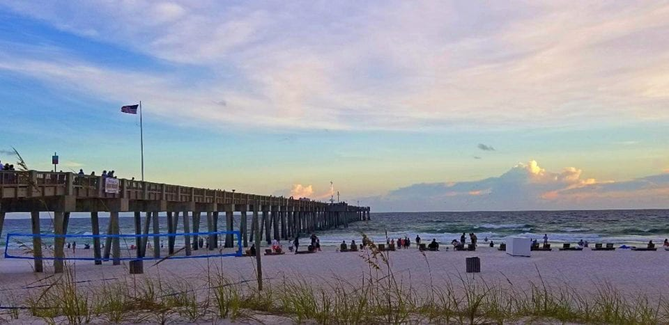 Sunset view of Russel Pier in PCB
