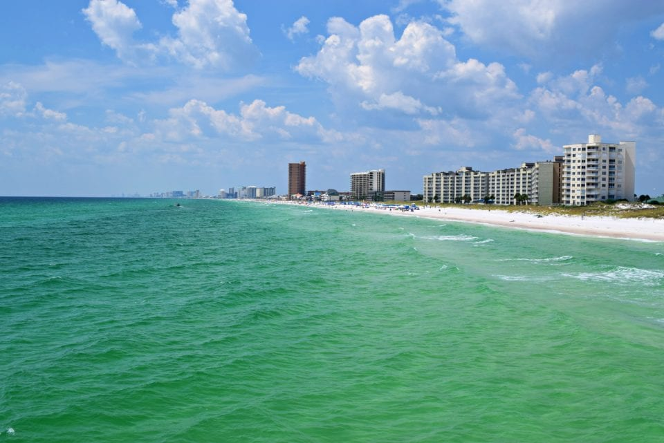 Panama City Beach from St Andrews State Park