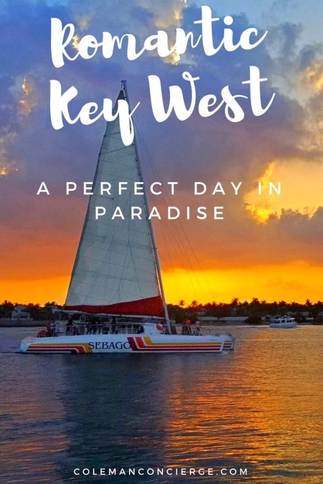 Romance is more than just in the air on Key West. It's in the water, the sunset, the history, and the unique vibe of this little slice of heaven. Click for our tips to find your perfect romantic day in Key West. #KeyWest #Romantic #Florida #CouplesTravel #RomanticGetaway