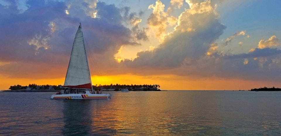 Romantic sunset cruise at Key West