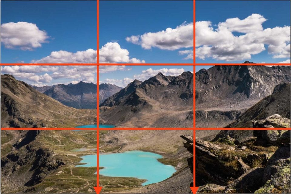 Rule of thirds for photographic composition