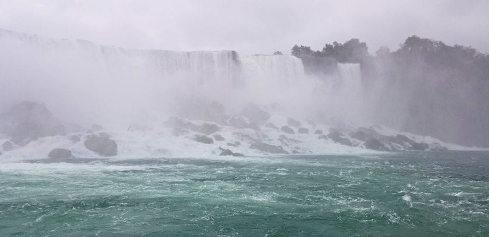 American:Bridal Veil Falls from Maid of the Mist