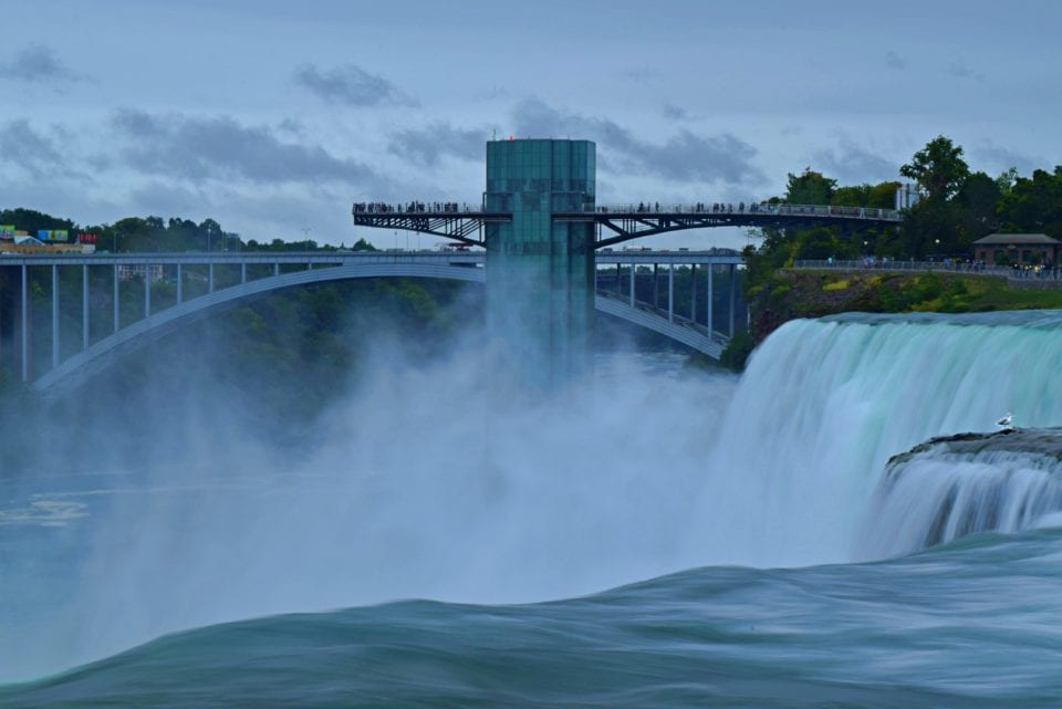 Looking down from American Falls- Niagara Falls - sci fi view