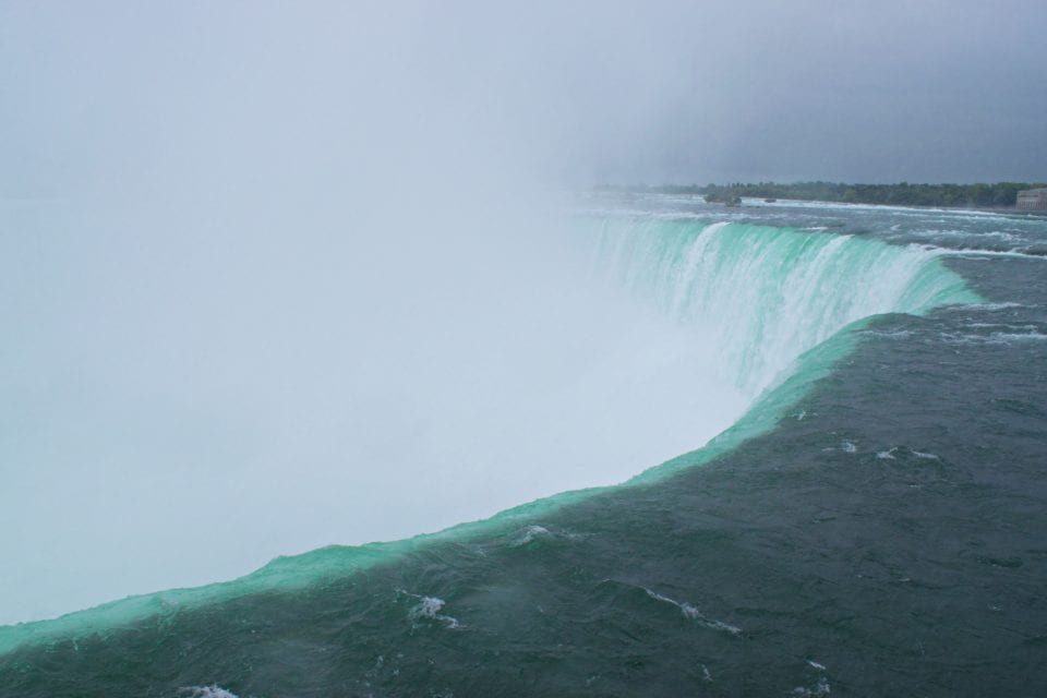 Looking over Horseshoe Falls-Niagara Falls