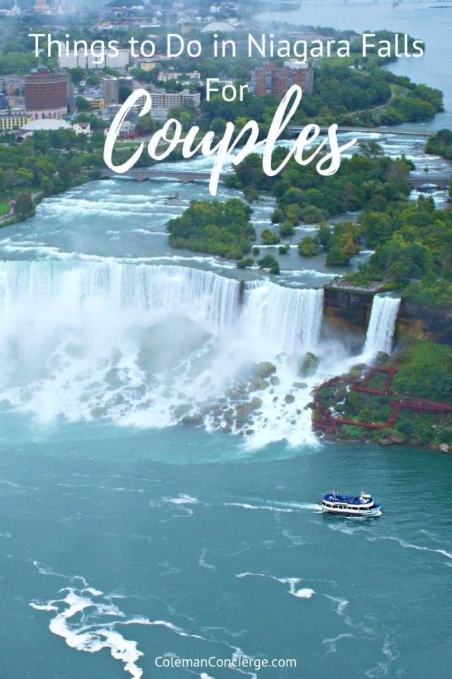 Niagara Falls has always been synonymous with romance. The massive size, thundering waters, and romantic views have drawn honeymoon couples and other romantics for decades. Here are our tips and ideas for couples traveling to the US and Canada's premier attraction. #NiagaraFalls #NewYork #RomanticGetaways #Canada #CouplesTravel
