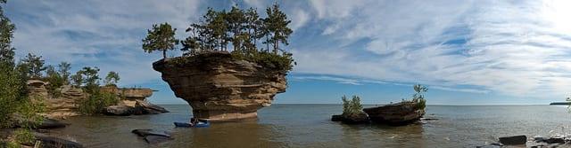 Turnip Rock at the tip of the Thumb- Photo by Derek A Young (Flicker)