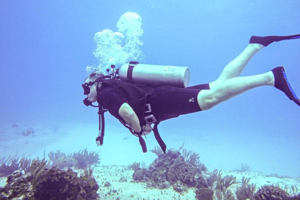 Ed diving Cozumel