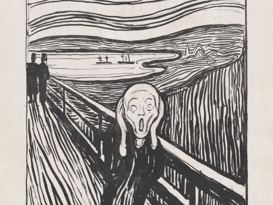 Edvard Munch the Scream via Canva