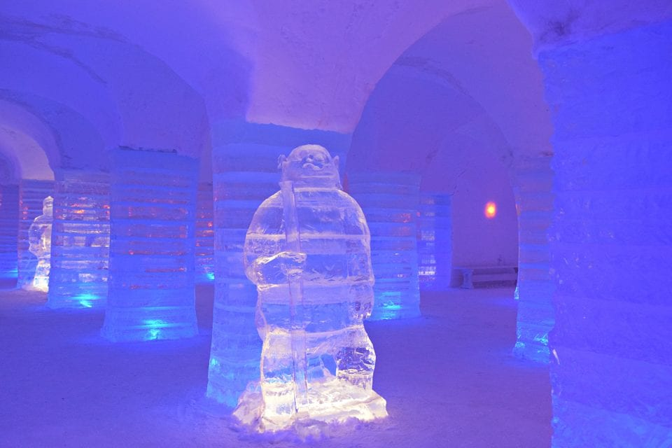 Ice sculpture Sorrisniva