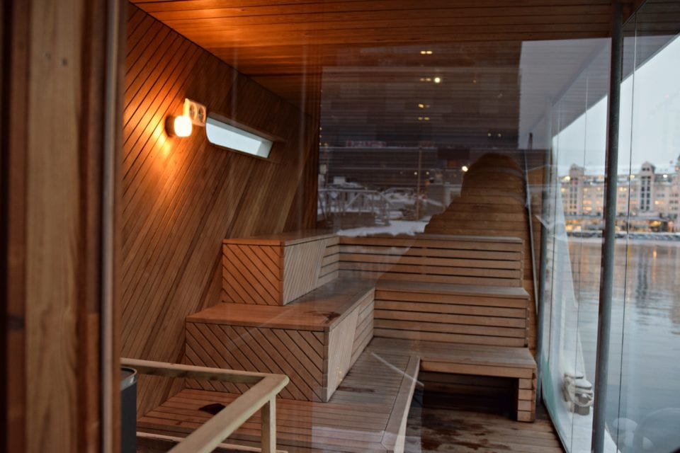 Inside the Sauna of the Fjords Oslo Norway
