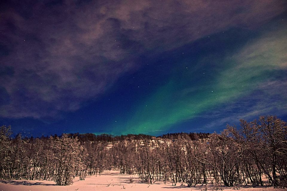 Northern lights near Alta Norway