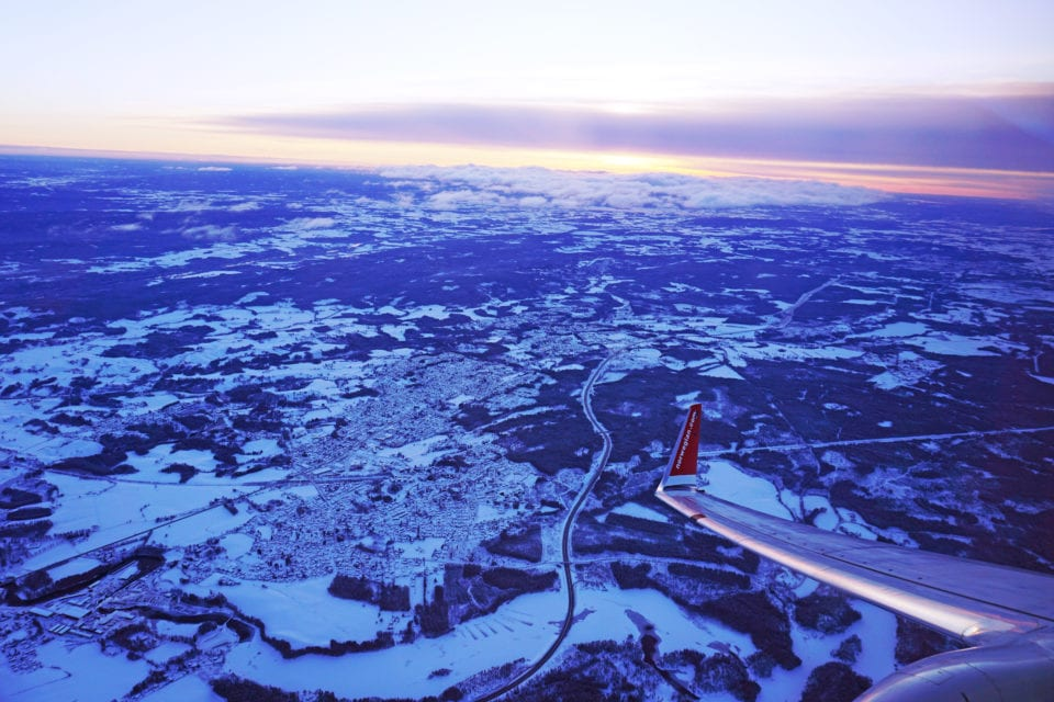 Norwegian Airline from sky via Kelley Louise: Impact Travel Alliance (link in photo)