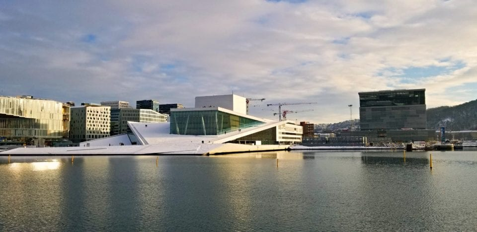Oslo Opera House across the Fjord