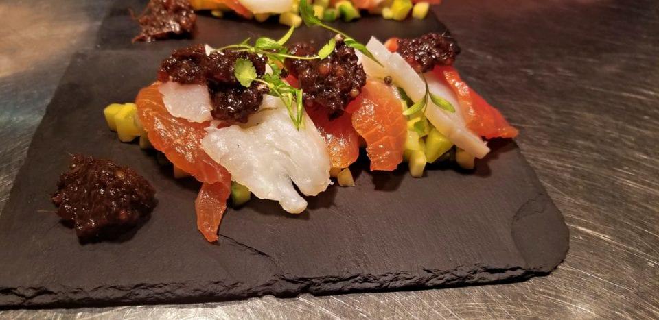 Sushi Tapas Ett Bord