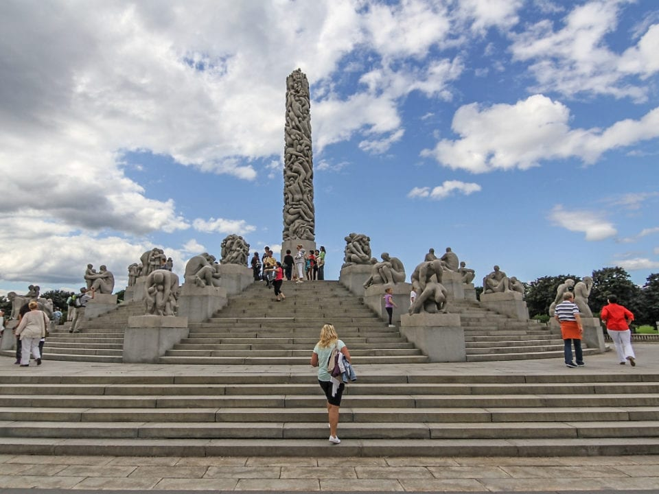 Vigeland Installation in Frogner Park via Canva