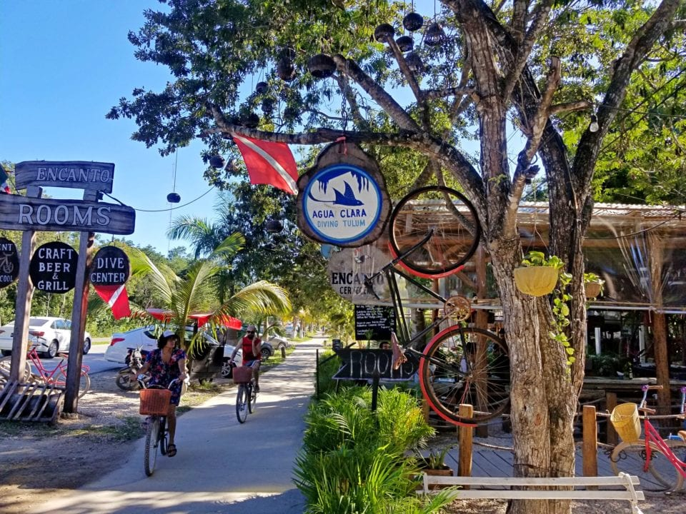 Agua Clara Signage and Tulum Bike Trail