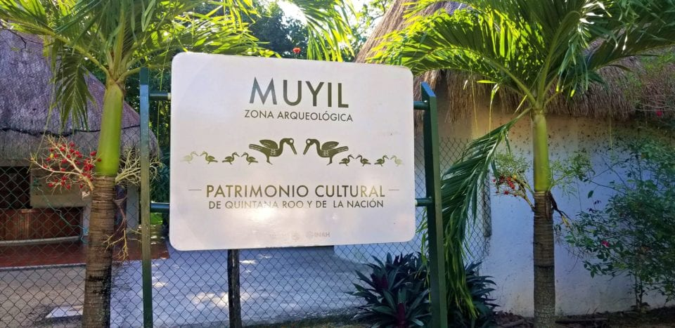 Entrance to Muyil Archaeological Site