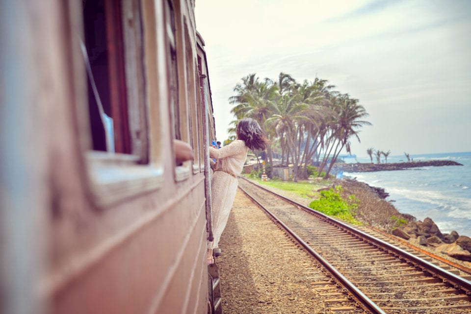 The Train from Colombo to Matara (also the post title shot) - Photo by Ellie Cleary and Ravi Rane @ The Soul Travel Blog