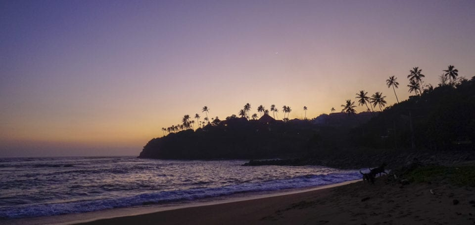 Weligama Beach at sunset - Photo by Lora Pope @ Explore with Lora