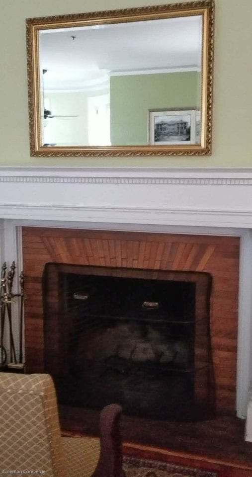 Jekyll Island Club San Souci Cottage fireplace