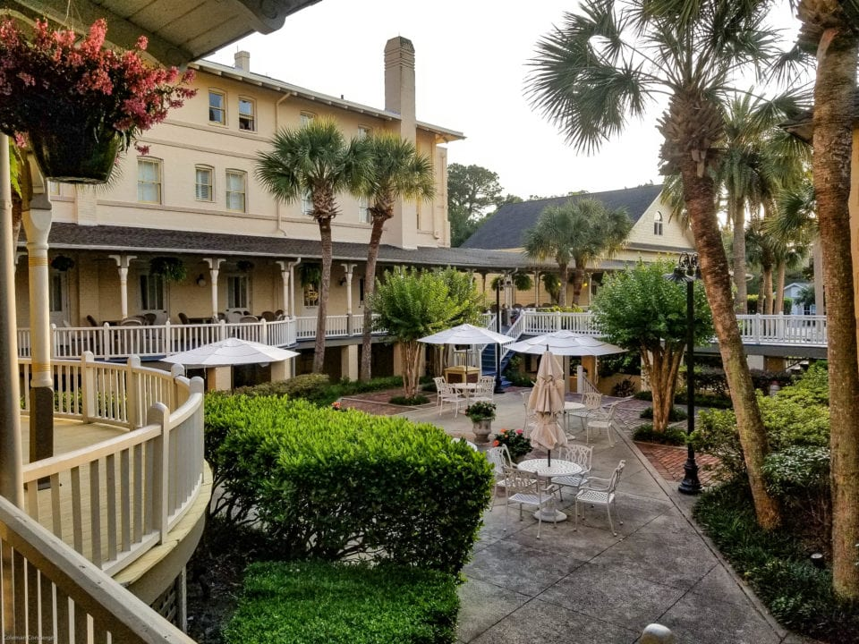Jekyll Island Club outdoor sitting area