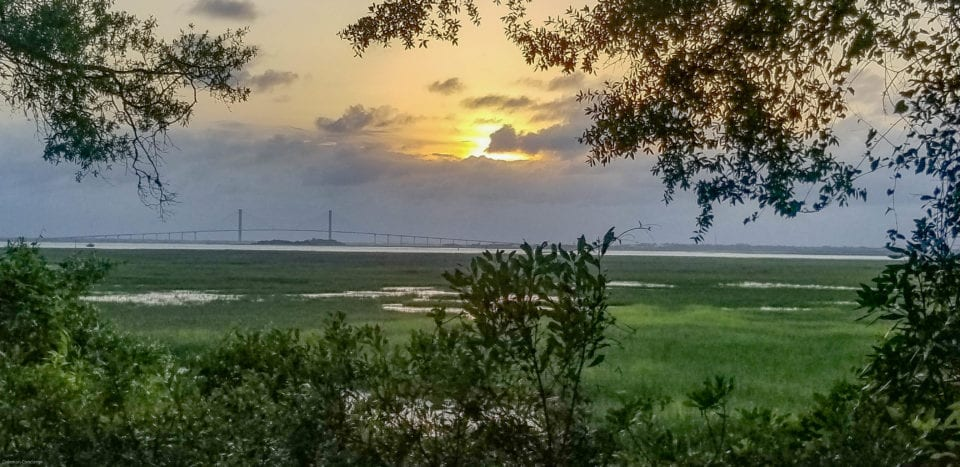Jekyll Island view at sunset