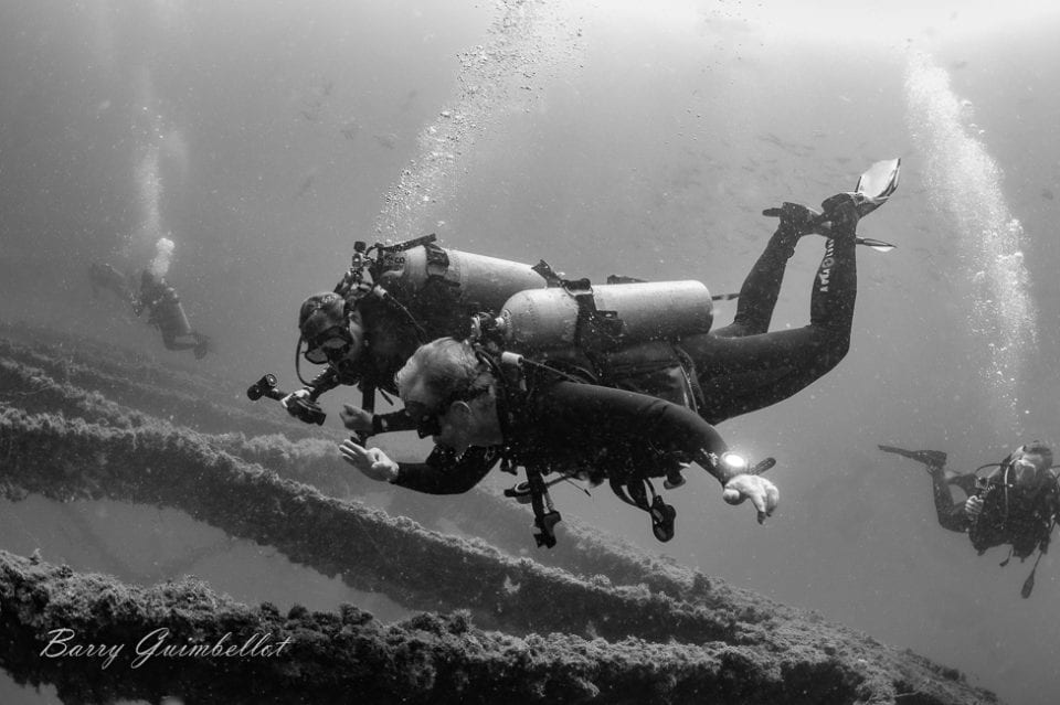 A good group of dive buddies makes all the difference  via Barry Guimbellot