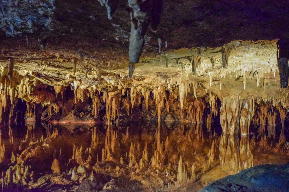 Luray Caverns reflection lake
