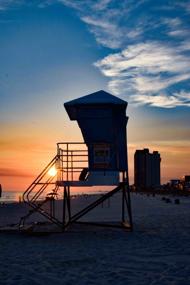sunset at Panama City Beach