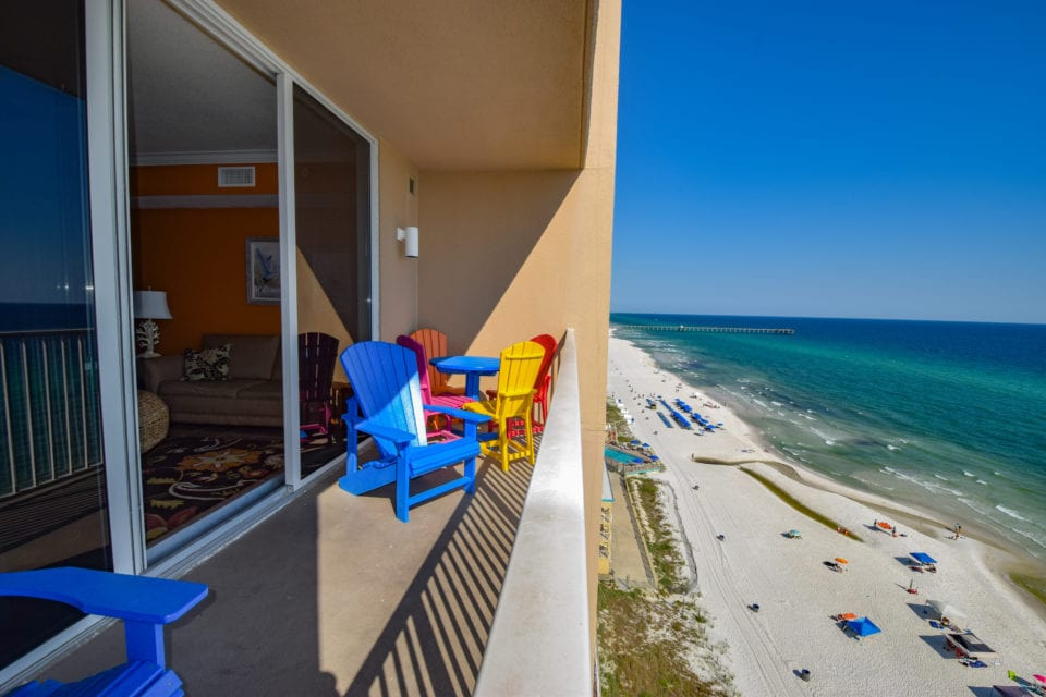 Our ocean view patio at Tidewater -Panama City Beach Florida