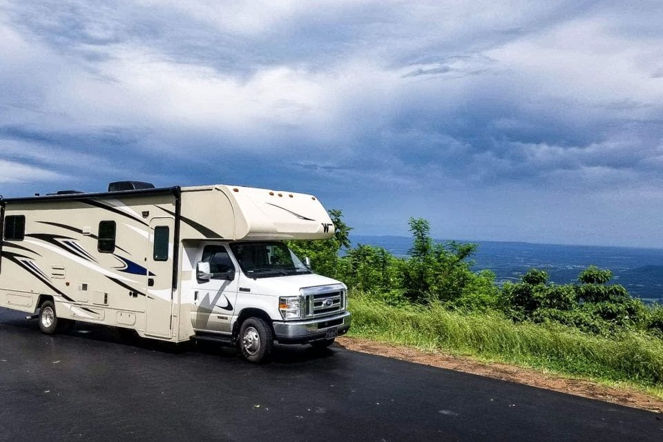 RV on Skyline Drive Overlook