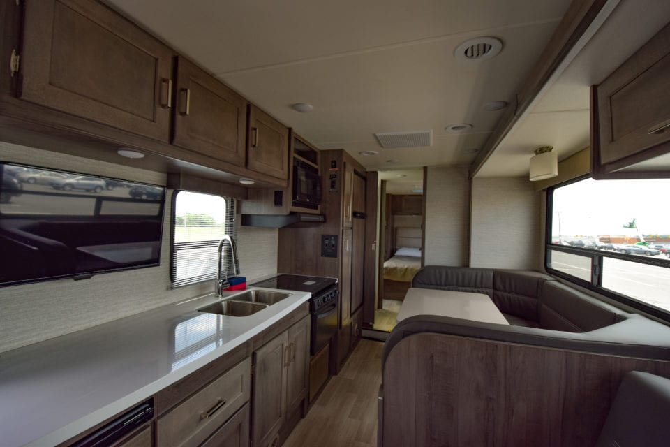 Interior photo of Winnie the RV