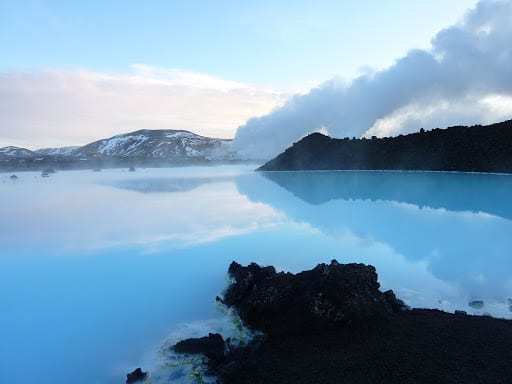 The unexpected landscape of the Blue Lagoon Iceland