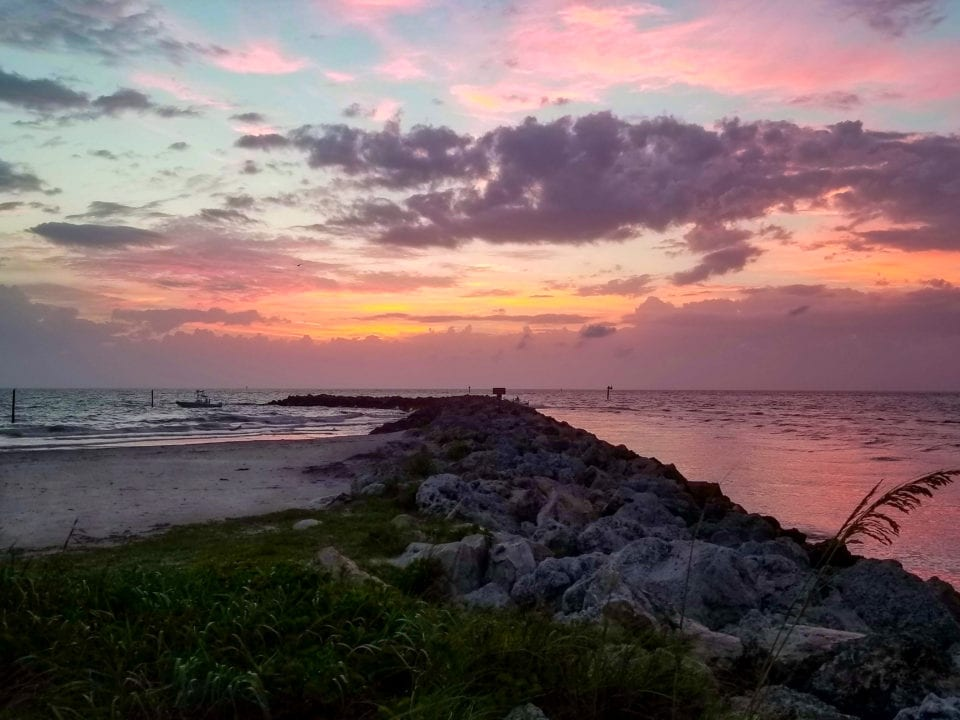 Sunset at Sand Key Park