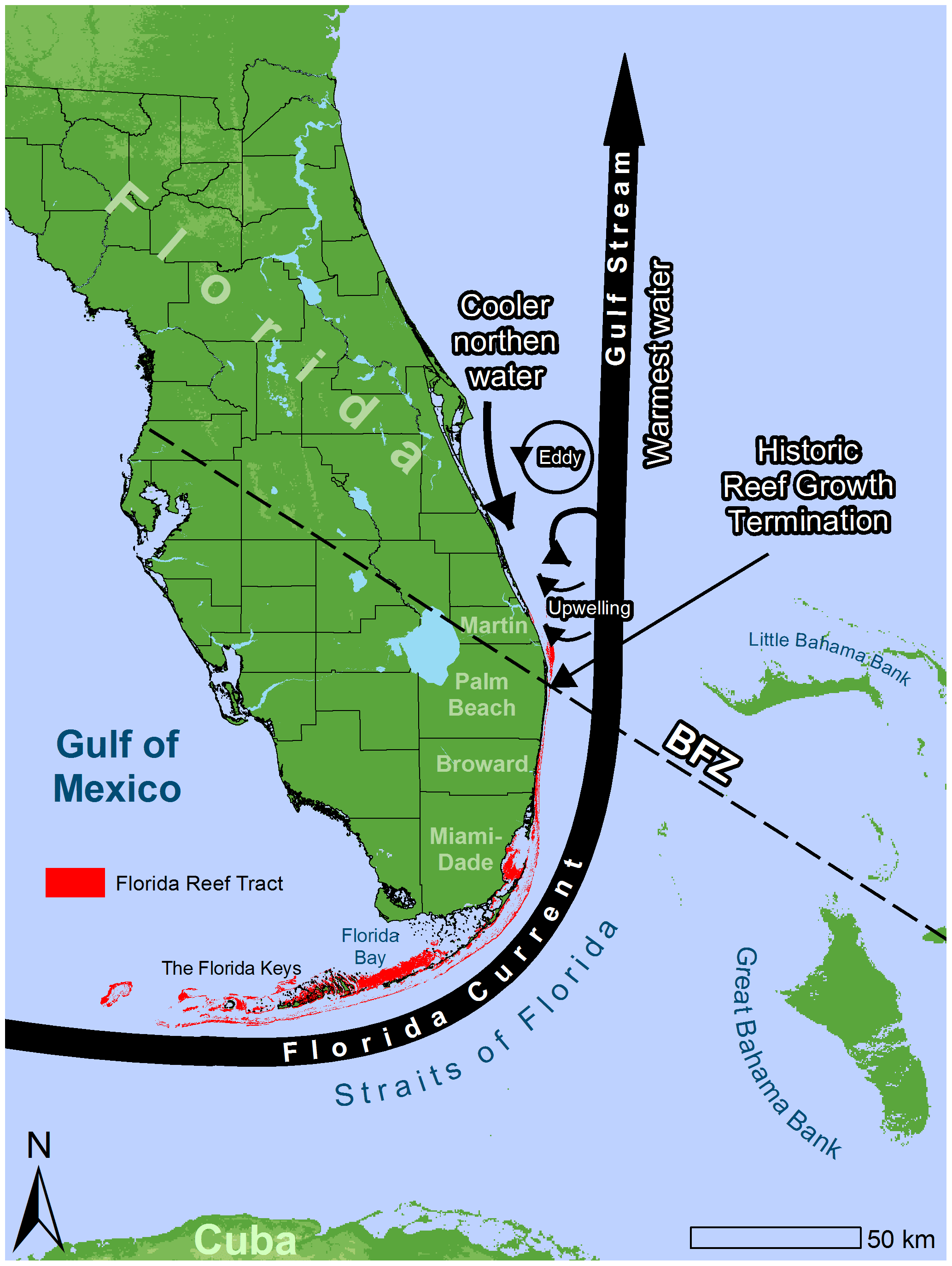 Florida Current Map